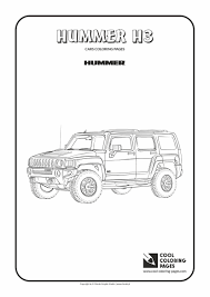 hummer h3 coloring page cool coloring pages
