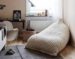 chunky merino wool grey knit bean bag kids u0027 bean bag by giemarga