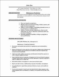 maintenance technician description resume 28 images service