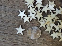 50 small wood stars diy rustic table decorations christmas flag