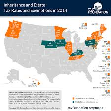 Cheapest States To Live In Usa State Estate And Inheritance Taxes In 2014 Tax Foundation