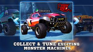 bigfoot monster truck cartoon monster trucks racing android apps on google play