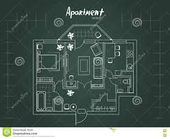 apartment project top view stock vector image of project 72497575