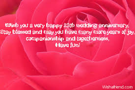 25th Wedding Anniversary Wishes Messages Very Happy Anniversary Message The Best Collection Of Quotes
