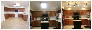 Small Fluorescent Light Fixtures Replace Fluorescent Light Fixture On Mini Kitchen Remodel