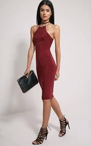 mirabella fashion mirabella burgundy soft touch strap back mini dress dresses