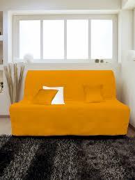 canapé 200 cm housse pour canapé bz adaptable couleur orange pas cher
