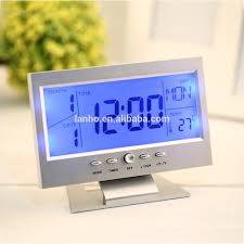 Minimalist Alarm Clock by Digital Clock With Calendar Temperature Desktop Digital Clock