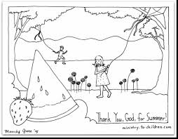 outstanding printable summer coloring pages with summer color