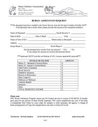 sample letter asking financial assistance for burial fill print