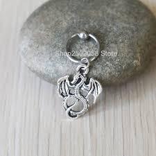 cartilage hoop earrings new 2pcs small dragons cartilage hoop earring 14g tragus helix