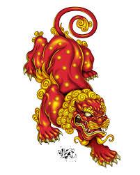 foo dog lion lion by cazitena on deviantart