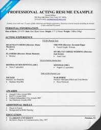 Example Acting Resume by Skillful Ideas Sample Acting Resume 10 Acting Resume Sample