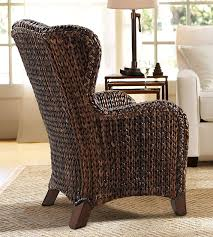 Wingback Wicker Chair Seagrass Wingback Armchair Pottery Barn