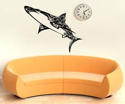 vinyl wall decal sticker abstract shark os aa1383