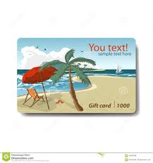 vacation gift cards summer sale discount gift card branding design for travel stock