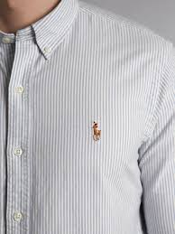 light blue striped polo dress lyst polo ralph lauren long sleeved slim fitted oxford striped