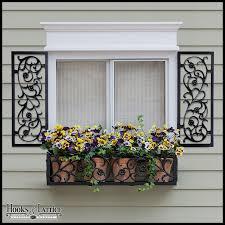 aluminum decorative exterior shutters hooks lattice