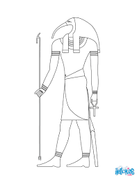 egyptian coloring pages horus and nefertiti deities coloring
