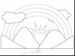 coloring page rainbow clouds coloring pages