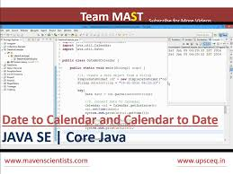 video format converter java java date to calendar and calendar to date conversion team mast