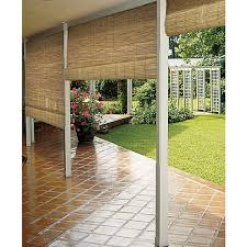 outdoor patio blinds roll up shades porch natural reed indoor