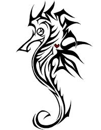 celtic seahorse tattoo designs