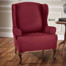 White Armchair Slipcover Furniture Stretch Wingback Slipcover Wingback Chair Slipcover