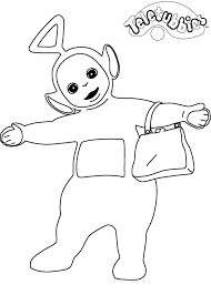 kids fun 16 coloring pages teletubbies