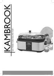 kambrook slow cooker ksc650 user guide manualsonline com