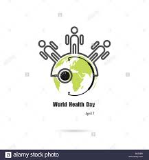 globe sign human icon and stethoscope vector logo design stock