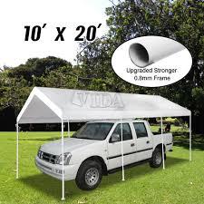 Ebay Carport Patio 10x20 Feet Heavy Duty Garage Outdoor White Carport Car