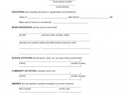 Blank Resumes To Fill In Exciting Fill In The Blank Resume 2 Blank Resume Template For High