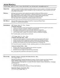 computer assistant sample resume computer skills resume