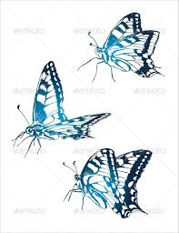 butterfly sketch neon by maslof14 graphicriver