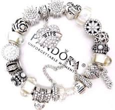 european bracelet charms images Authentic pandora sterling silver charm bracelet with love white jpg