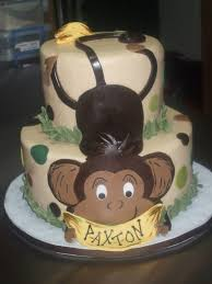 cakes by paula baby shower monkey cake