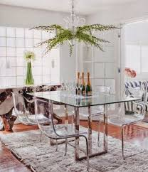 walden collection 101071 contemporary glass top dining table set