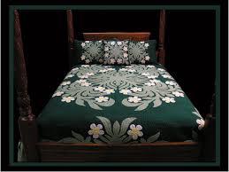 Hawaiian Bedding Hawaiian Quilt Multi White Plumeria Hawaiian Quilts Applique