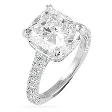 cushion diamond ring lepozzi 4 ct cushion cut engagement ring b