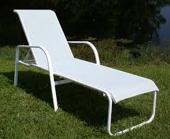 Patio Chair Slings by 15 In Seat Ocean Breeze Aluminum Sling Chaise Lounge Chair W