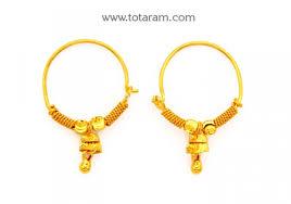 baby hoop earrings small gold hoop earrings for baby ear bali totaram jewelers