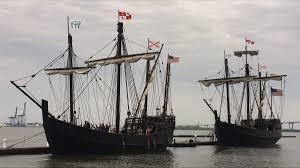 see the nina and pinta replica ships at ditto landing from sept
