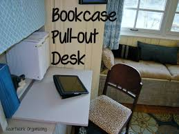 bookcase makeover and pull out desk for home office heartworkorg com
