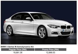 bmw car price in malaysia bmw f30 3 series m sport kit retrofit package