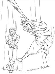 tangled coloring pages kids world