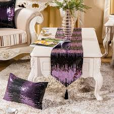 table runner for coffee table sequin table runner fringed tablecloth shiny household coffee table