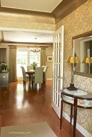 matte metallic paint by modern masters on crown molding for an