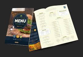 pub menu template for photoshop u0026 illustrator brandpacks