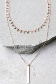 choker necklace pink images Cute rose gold necklace layered choker layered necklace 11 00 jpg
